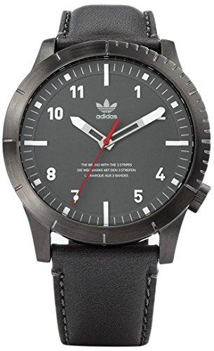 Adidas Herren Analog Quarz Uhr mit Leder Armband Z06-2915-00