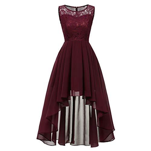 Rockabilly Kleider Damen Lang mit ärmel, 1950er Vintage Kleid Retro Elegant Cocktailkleid Sexy Ärmellos Sommerkleider Damen Kurzarm...