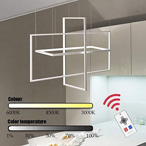UWY Cuadrado Rectangular 3D Luz de Montaje en Pared LED Luz de Techo Sala de Estar Dormitorio Bar Araña Resplandor Blanco Alto Brillo (Color: Atenuación Continua)