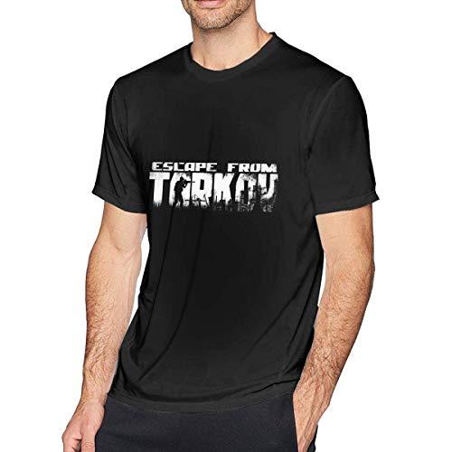 DJNGN Esc-Ape FroTTm Ta-rkov Camiseta clásica de Manga Corta para Hombre Top Negro