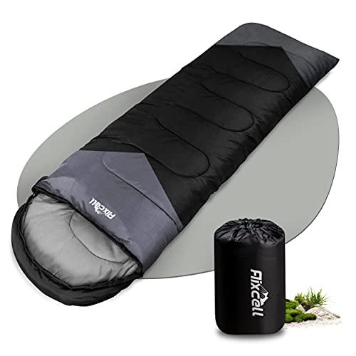 Aixcell Schlafsack – kompakt & ultraleicht Schlafsack [1350g] – 4 Jahreszeiten Deckenschlafsack bis zu -10°C – Polyester & Holfaserfüllung [250g/m²] - für Indoor Outdoor Camping [220x75cm]