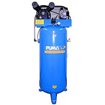 Puma Industries PK-6060V Air Compressor, Professional/Commercial Single Stage Belt Drive Series, 3 hp Running, 135 Maximum psi, 230/1V/Phase, 60 gal, 305 lb.: image