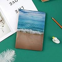 新しい ipad pro 11 2018 ケース スリムフィット シンプル 高級品質 手帳型 柔らかな内側 スタンド機能 保護ケース オートスリープ 傷つけインドアンダマン諸島穏やかな海の柔らかい砂浜夏