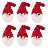 TOYANDONA, 6 pezzi di feltro, Babbo Natale, toppe di Natale, toppe da cucire, per fai da te, etichette regalo, decorazioni per albero fai da te, confezione regalo, adesivi, giacche, jeans, cappello