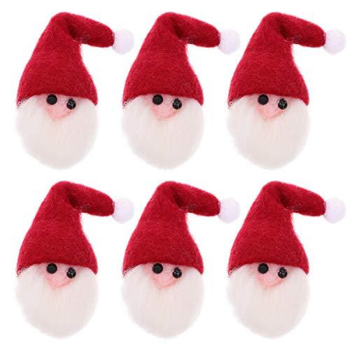 TOYANDONA 6 Stücke Filz Weihnachtsmann Patches Weihnachten Patch Sticker Flicken Aufnäher Bastelfilz Geschenkanhänger Baumschmuck für Basteln DIY Geschenkbox Aufkleber Jacken Jeans Hut