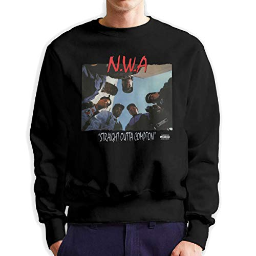 MYHL Men's N.W.A Straight Outta Compton Fashionable Casual Style Crew Neck Cotton Sweatshirt Hoodie