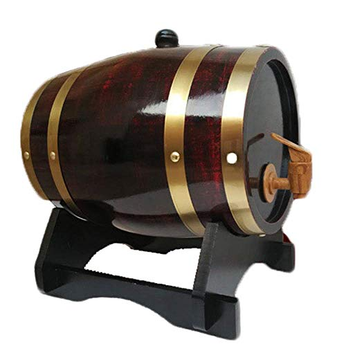 HWhome Holzfassdekoration Weinfass, Eichenweinfass Wein Weißwein Weinfass Dekoration Bierfass (Capacity : 20L, Color : E)