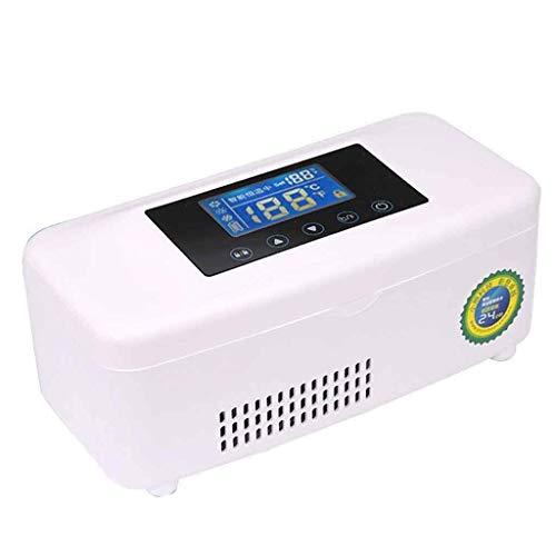 Refrigerador de insulina, refrigerador de insulina portátil inteligente recargable con pantalla de temperatura Refrigerador médico para automóvil, camión y enchufe, caja de viaje para el hogar A +++