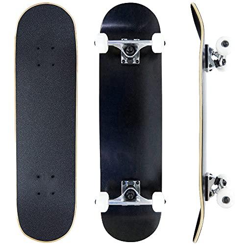 スケートボード ブランク コンプリート スケボー 無地 デッキ ブランクデッキ セット 完成品 ABEC7 BC-1012...