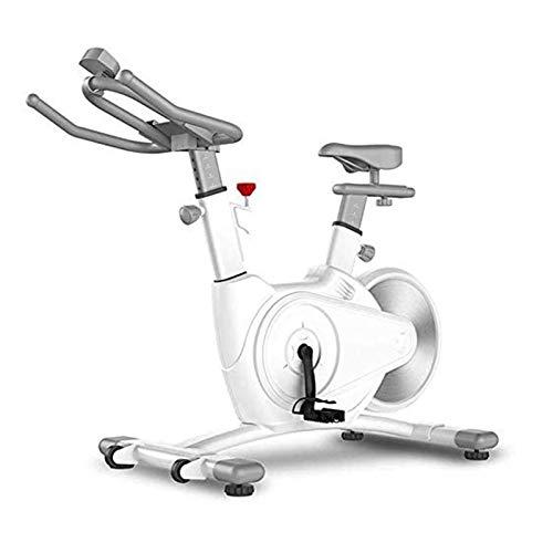 Bicicleta estacionaria, bicicleta de ciclismo interior con sensores de frecuencia cardíaca y pantalla LCD, bicicleta de ejercicios para el gimnasio de cardio en casa, marco engrosado versión mejorada
