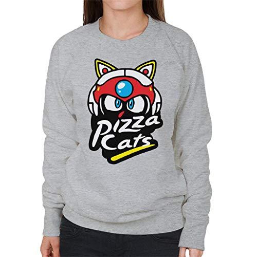Cloud City 7 Samurai Pizza Cats Pizza Hut Logo Women's Sweatshirt