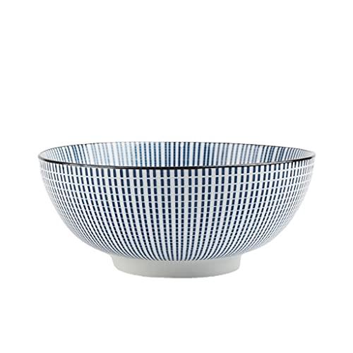 Ensaladera de cerámica, cuencos de cereales de estilo japonés, cuencos de sopa, para pasta/postre/arroz/ensalada/desayuno, tazón de helado/bocadillo de inmersión