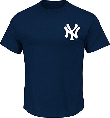 Majestic New York Yankees T-Shirt Style Jersey (Adult Medium)