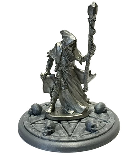 Satheras Elf Warlock 03381 on 45mm Pentagram Summoning 3D Printed Display Base