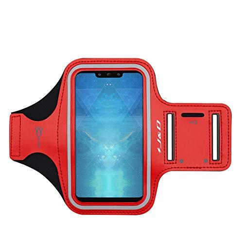 J&D Compatibile per Huawei Mate 40 Pro/30 Pro/30/20/20 Pro/20 Lite/X/P Smart Z Play/P Smart S Fascia da Braccio Sportiva, Bracciale con Portachiavi Slot, Connessione Auricolare Perfetta