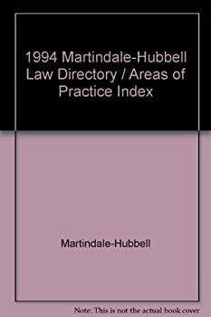 Hardcover 1994 Martindale-Hubbell Law Directory / Areas of Practice Index / Intellectual Property Law-Zoning Law Book