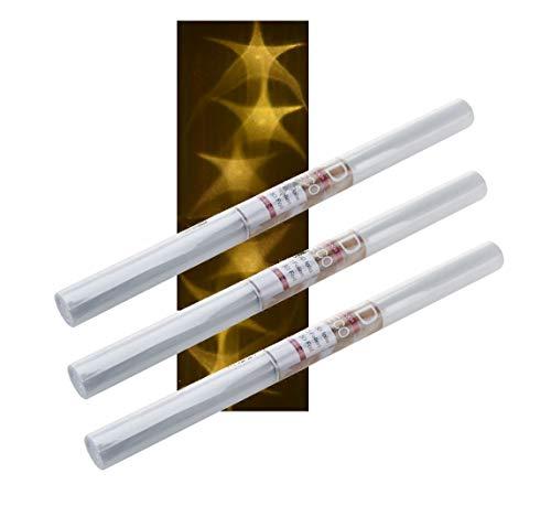 Spetebo 3D PVC Lichteffekt Folie - 3 Rollen à 100x33 cm - Stern Hologramm Bastelfolie