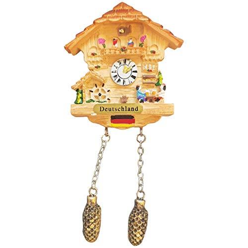 Ciffre Kuckucksuhr Magnet Polyresin Kühlschrank Beige Haus - Deutschland