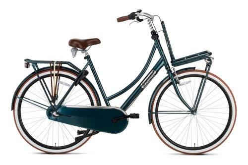 Fahrrad Popal Daily Dutch Basic+ 28 Zoll 57 cm Damen 3G Rücktrittbremse Dunkelgrün