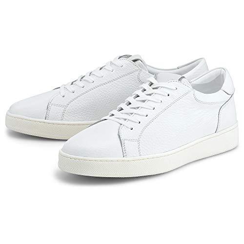 Belmondo Herren Freizeit-Sneaker Weiß Glattleder 45