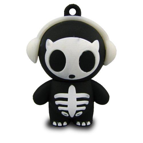 818-Shop No12800050016 Hi-Speed 2.0 USB-Sticks 16GB Skelett DJ Horror 3D schwarz