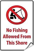 おかしい金属ノベルティサインアルミこの釣りから許可された釣り禁止、ヴィンテージの男の洞窟ガレージサインバーサイン金属壁ティンサイン壁アートシンボルポインターデカール金属サイン