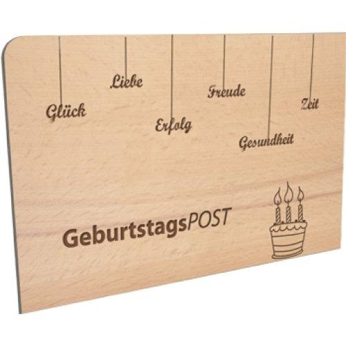 Postkarte aus Holz 'GeburtstagsPOST'