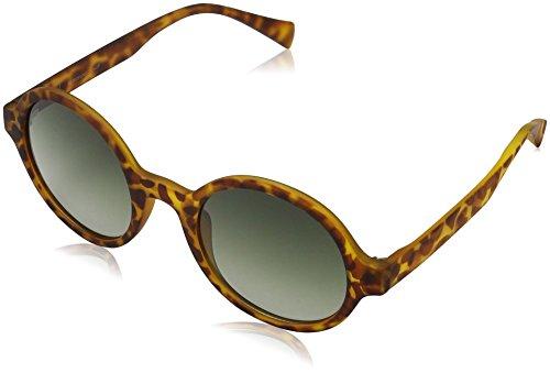 MSTRDS Unisex Retro Funk Sonnenbrille, Mehrfarbig (havanna/green 5153), (Herstellergröße: one size)