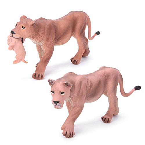 Gojiny Modelo de Animal Simulado Colección de Leona de Plástico Decoración Juguete para Niños Juguetes Educativos Tempranos para Niños