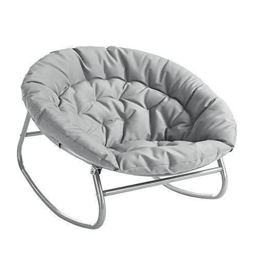 Urban Shop Rocking Saucer Chair, Navy Blue