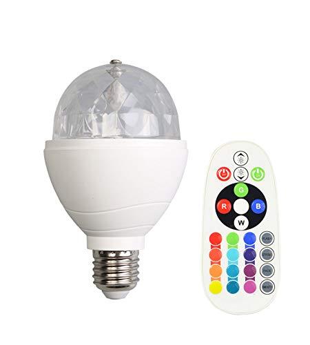 Preisvergleich Produktbild X4-Life rotierende LED-Glühbirne RGB+W mit Fernbedienung