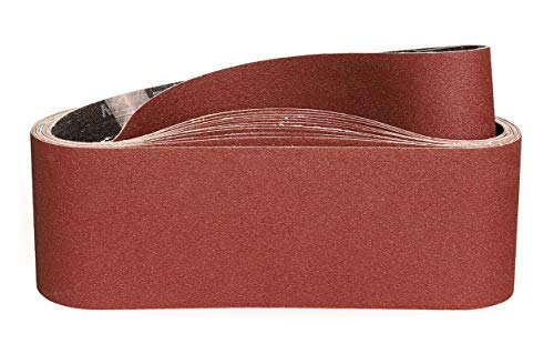 Bandas de Lija 75 x 533 mm-120 Granul 12 piezas,Bandas Para Lijadora Pared Para Madera Bandas Lijadora Metal-STEBRUAM