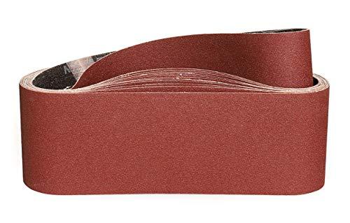 STEBRUAM Schleifband 75x533 mm,Schleifbänder für Bandschleifer Schleifen, Feilen, Schärfen und Entrosten,Körnung 120(12 Stück)