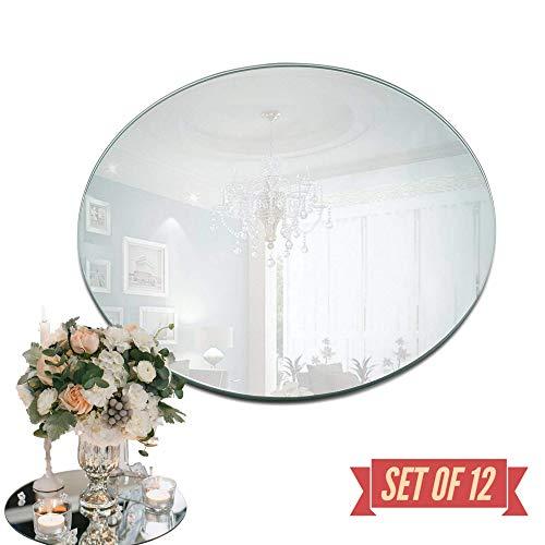 25,4 cm Spiegel Kerzenteller rund 12er Set 8 Inch