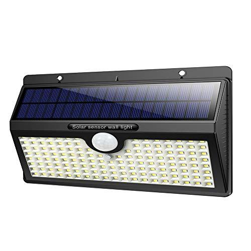 iPosible Luz Solar Exterior, [2019 Super Brillante 138 LED - 1400 Lumens]...