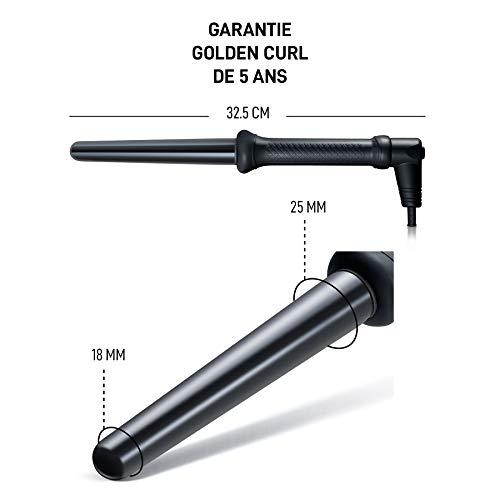 Golden Curl Lockenstab Hair Curler GL506 – langanhaltende Locken für alle Haartypen – unglaubliche 5-Jahres Garantie (18mm – 25mm, Germany) - 6