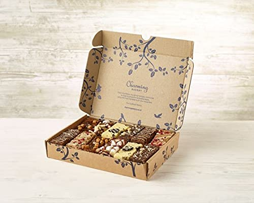 Charming Bakery Bestsellers Box - 12 Handmade Assorted Brownies,...