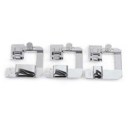 Prensatelas para máquina de coser, prensatelas para uso doméstico, máquina de coser, prensatelas para dobladillo enrollado, 4/8 6/8 pulgadas
