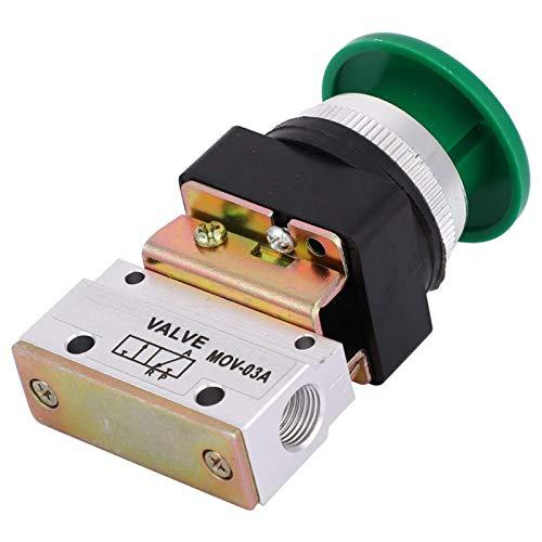 Válvula mecánica de aire de precisión estable, interruptor de botón de válvula, 3 vías confiable para equipos mecánicos, equipos textiles