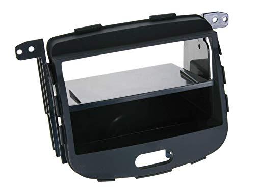 ACV Electronic Façade d'autoradio 2-DIN gommée avec casier de rangement pour Hyundai i10 modèles à partir de 2008
