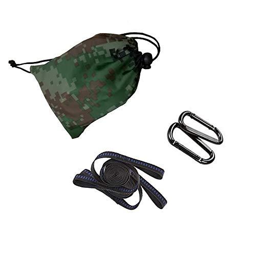 Tomyeire - Correas para hamaca de árbol con 2 mosquetones de acero de alta calidad para columpio, camping, al aire libre