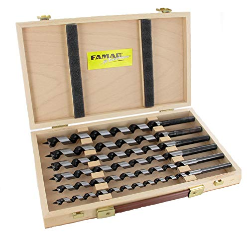 FAMAG 1410.600 slangenboor Lewis, 6-delig in houten doos 650 mm NL 535 mm