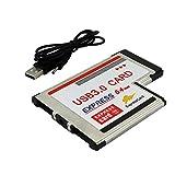 JMT 2 Dual Ports USB 3.0 HUB Express Card...