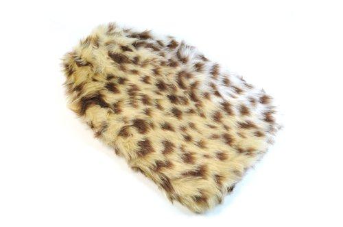 Adults 2 Litre Animal Print Fauk Fur Hot Water Bottle Cover Hw154