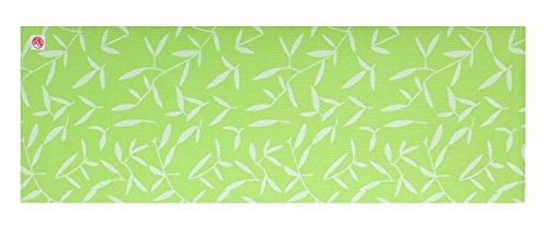 silly.con Fit & Fun Erwachsene Yogamatte, grün, Bedruckt mit Motiv Bambus, 173 cm, PVC, mit Tragegurt Fitnessmatte, M