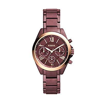 Fossil Women's Modern Courier Quartz Stainless Chronograph Watch, Color: Wine (Model: BQ3281) by Fossil Watches
