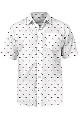 Tipsy Elves Men's All Around The USA Button Down Shirt: XL White from