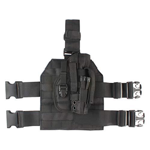 Ran's L Beinholster Taktische Molle Airsoft Pistol Tiefziehholster Beinplatte CJ/ZSTB-01 (Schwarz)