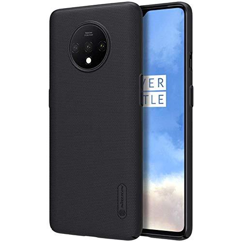 Nillkin Hülle für OnePlus 7T Hülle, Frosted Shield [mit Telefon Ständer] Ultra Slim PC Material Schutzhülle Stoßfest Handyhülle Hard Case Back Cover für OnePlus 7T (Schwarz)