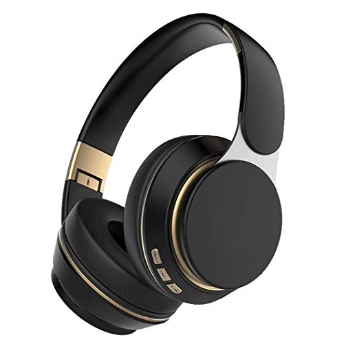 Bluetooth Headphones Over Ear, 10 Hrs Comfortable Wireless Headphones, Rechargeable HiFi Stereo Headset, Deep Bass Headphones with Microphone for Cellphone Tablet